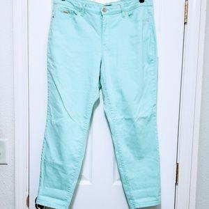 EUC Nine West Pastel Skinny Jeans 14